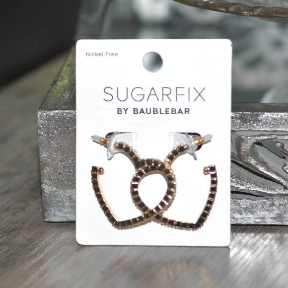 SUGARFIX BY BAUBLEBAR Crystal Heart Hoop Earrings